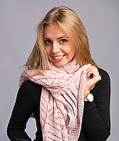 Мягкий ажурный шарф