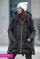 """Женская зимняя куртка трапеция с капюшоном """"Мэсси"""" в разных цветах"""