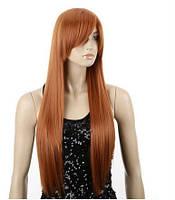 Парик длинный волос рыжий