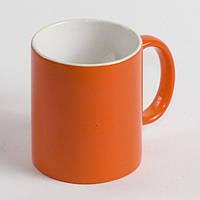 Чашка для сублимации хамелеон МАТОВЫЙ (оранжевый)