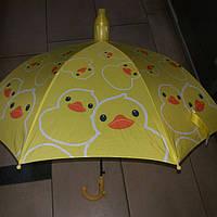 Зонт детский желтый в пластиковом чехле