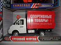 Машинка фургон Спорт товар открыв двери звук, свет