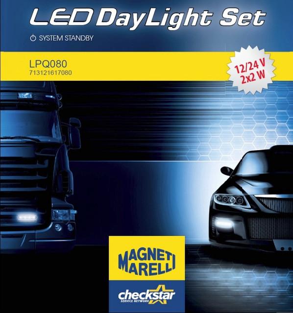 Фары дневного свта светодиодные (к-т 2 шт) на Renault Trafic / Opel Vivaro 2001->  —  Magneti Marelli - LPQ080