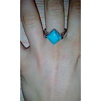 Женское кольцо с бирюзой в серебре