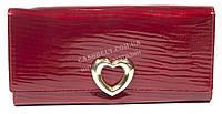 Стильный гламурный лаковый женский кожаный кошелек art. V590-63 красный