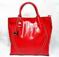 Удобная женская классическая кожаная сумка красного цвета GFY-536745