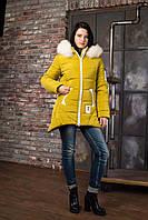 Зимняя куртка ANGELIKA цвет фисташка 42-46 размеры