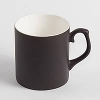 Чашка хамелеон фарфор МАТОВЫЙ (черный)