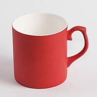 Чашка хамелеон фарфор МАТОВЫЙ (красный)