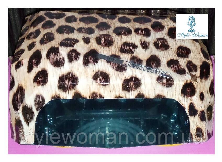 Гибридная уф лампа  CCFL+LED 36вт беж леопард