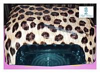Гибридная уф лампа  CCFL+LED 36вт беж леопард, фото 1
