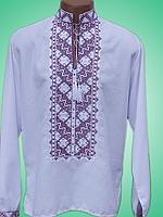Чоловіча вишита сорочка з неповторним узором (Мужская вышитая рубашка с неповторимым узором) SN-0003