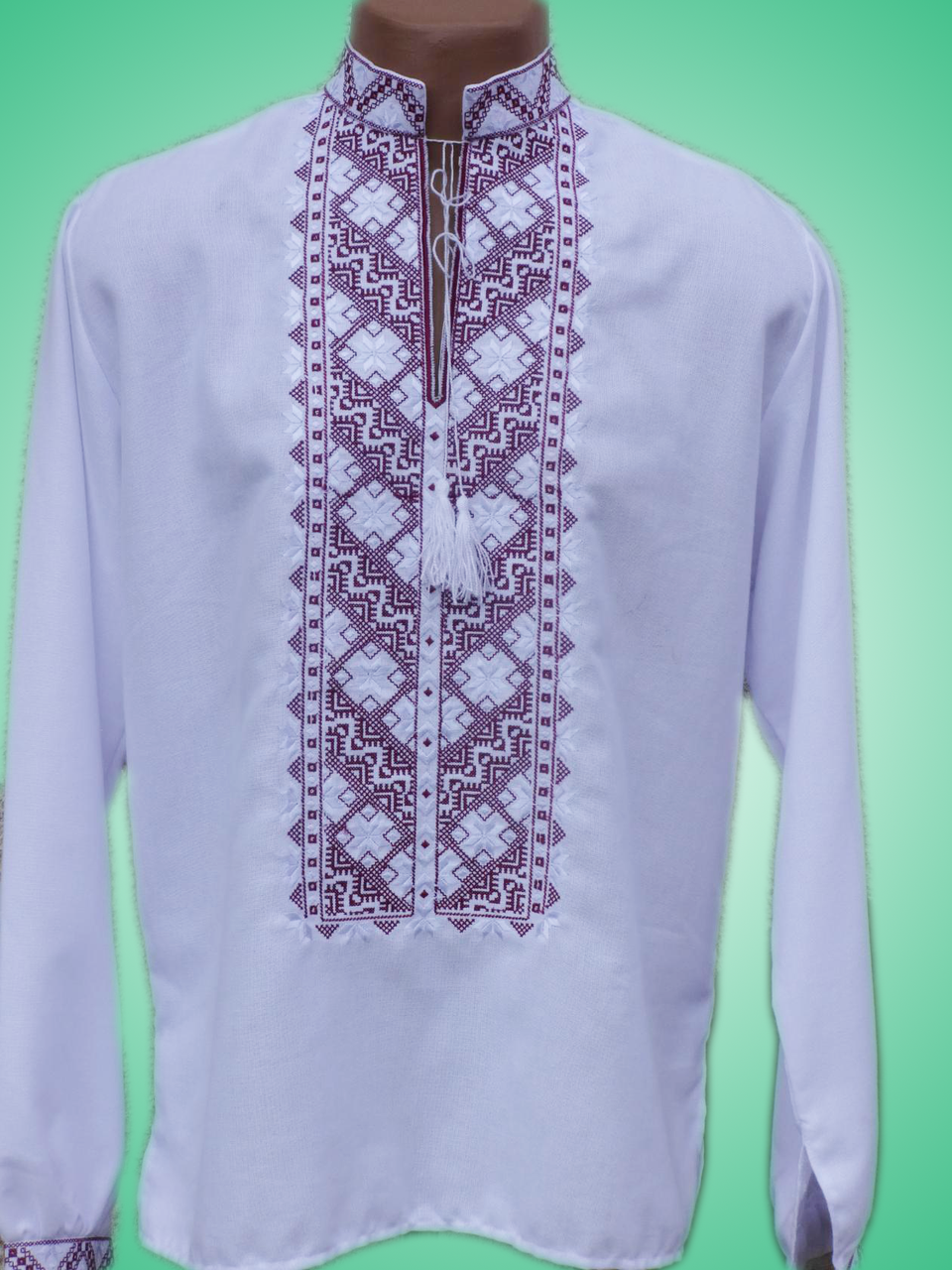 Чоловіча вишита сорочка з неповторним узором (Мужская вышитая рубашка с  неповторимым узором) SN- 0d5ae98ae6a0f