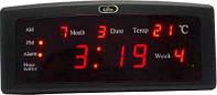 Часы настольные светодиоидные Led Digital Clock CX-868 красные , желтые, зеленые