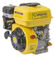 Двигатель бензиновый Садко GE-200PRO (6,5 л.с., шпонка Ø19мм, фильтр в масл. ванне) + доставка