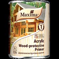 """Деревозащитная акриловая грунтовка """"Acrylic Wood Primer"""" ТМ """"Maxima"""" 0.75л"""