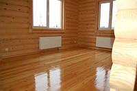 Внутренняя отделка дома под ключ: отделка деревом стен, потолка