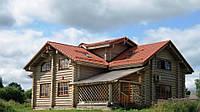 Деревянный дом из оцилиндрованного бревна под ключ