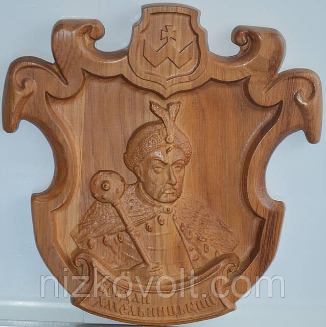 Сувенірний виріб з дерева «Богдан Хмельницький»
