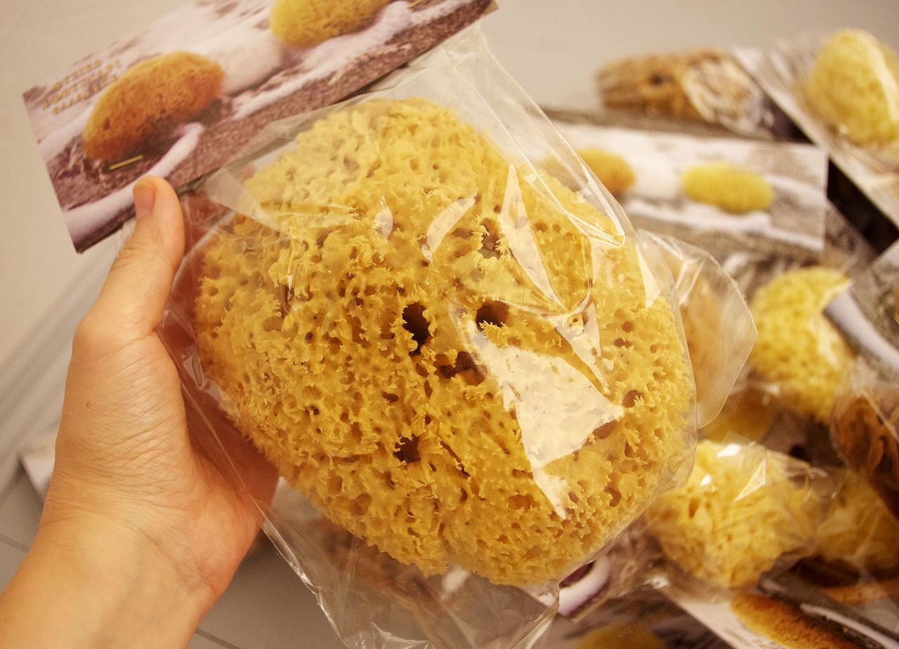 Морская губка Honeycomb для тела, натуральная, 6-6,5 дюйма, Греция
