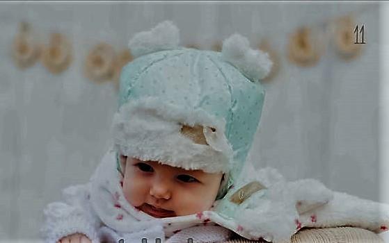 Зимняя шапка и шарф для девочки (ментол) Дембохаус р-ры 42,44,46