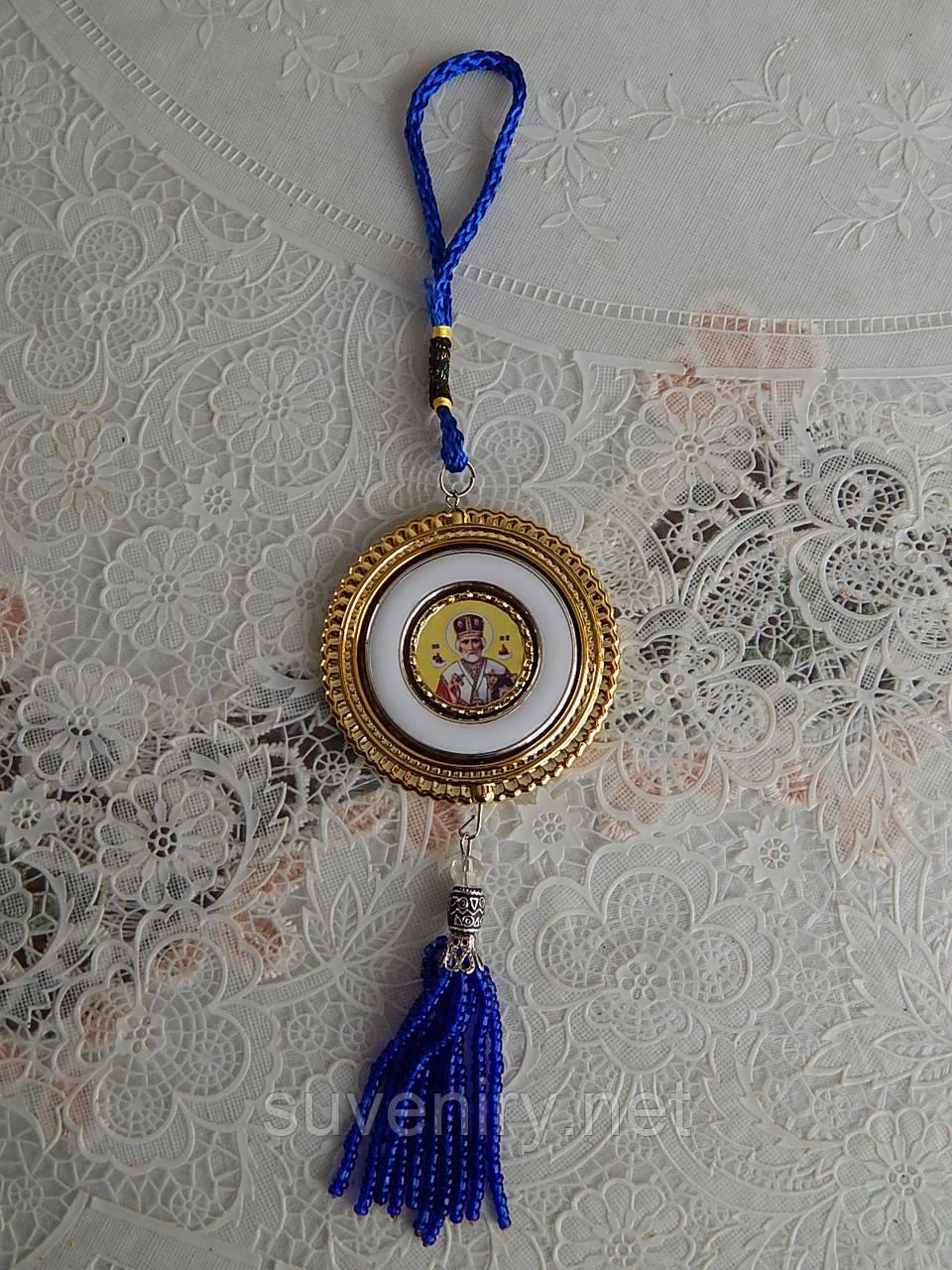 Бисерная подвеска с иконкой православная