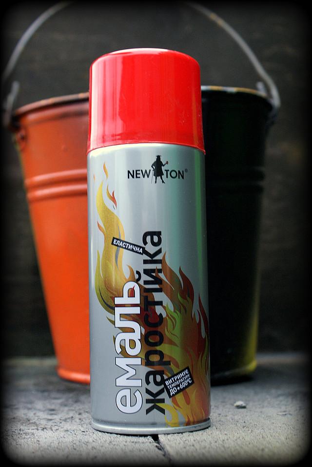 красная жаростойкая краска, термостойкая краска для печей , бойлеров , каминов , котлов , радиаторов , суппортов , двигателей , выхлопных труб , производственного оборудования