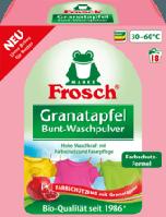 Фрош - порошок для стирки цветного белья с экстрактом Граната  Frosch Granatapfel 1.35 кг