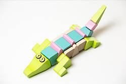 Деревянная игрушка Крокодил акробат LA-2 Cubika (11865)
