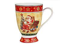 """Фарфоровая кружка """"Дед Мороз с подарками"""" 350 мл. Новогодние подарки"""