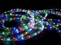 Разноцветная новогодняя гирлянда Дюралайт multi 10 метров