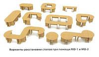 Офісний стіл МО-1 Компаніт / Стол офисный МО-1 Компанит