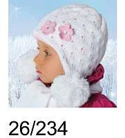 Комплект: шапка детская с помпонами и шарф