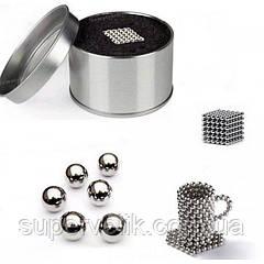 Магнитный конструктор Неокуб Neocube 216 шариков 5мм в боксе , нэокуб Neo cub, золото, серебро