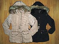 Куртки на меховой подкладке для девочек оптом, S&D , 8-16 рр.