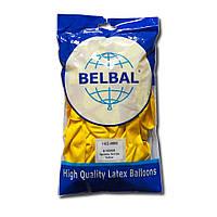 """Воздушные шары Belbal пастель 12""""(30 см) желтый 50 шт, фото 1"""
