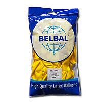"""Воздушные шары Belbal пастель 12""""(30 см) желтый 50 шт"""