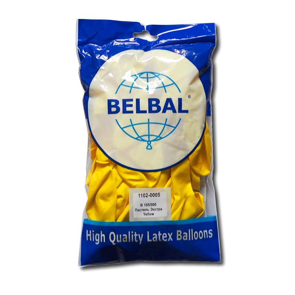 """Желтый пастель 12""""(30 см) Belbal (упаковка 50 шт)"""