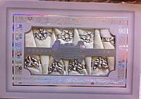 Набор скатерть с салфеткамибежевого цвета с кольцами