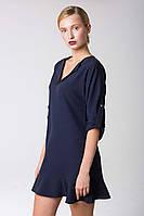 Платье-рубашка с воланом по низу 42-46 размеры