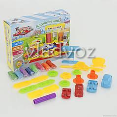 Игровой набор тесто масса для лепки, пластилин заправка с двумя машинками