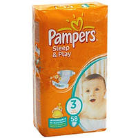 Pampers Sleep and Play подгузники 3(4-9кг),58 шт