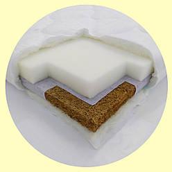 Комфорт (7 см) 120*60 С кокосом. Детский матрас в кроватку для новорожденного ортопедический