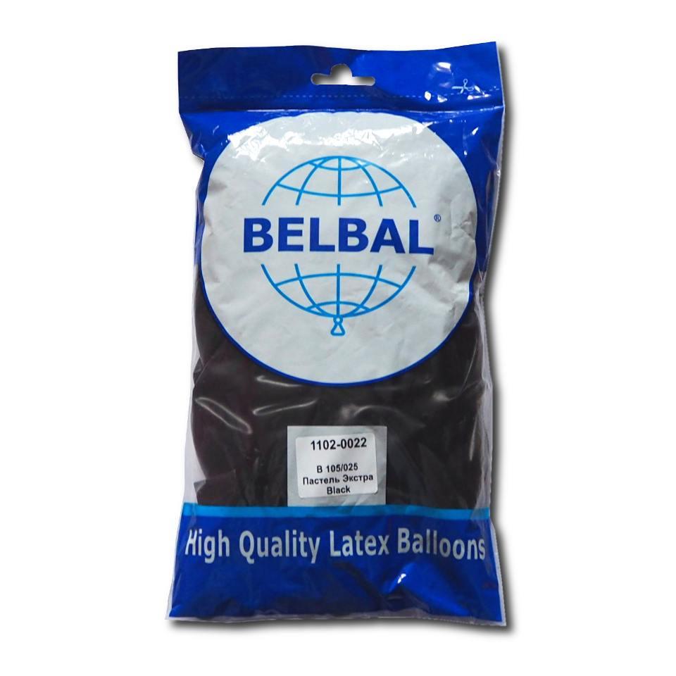 """Черный 12""""(30 см) пастель  Belbal (упаковка 50 шт)"""