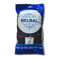 """Воздушные шары Belbal пастель 12""""(30 см) черный 50 шт, фото 1"""