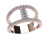 Модное золотое кольцо 585* из последней коллекции