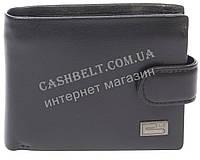 Прочный небольшой мужской кошелек из натуральной качественной кожи BRAUN BUFFEL art. BU-6951 черный