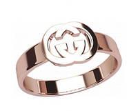 Гладкое золотое кольцо 585* в стиле Gucci