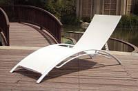 Лежак STELLA для пляжа, сада или террасы - Белый