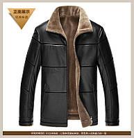 Мужская эко-кожа куртка с мехом размеры от 46- 62, большие размеры! 3 цвета